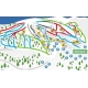 Схема горнолыжных трасс в Шерегеше